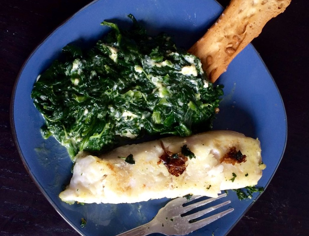 No hay nada mejor que un buen plato de merluza con espinacas.