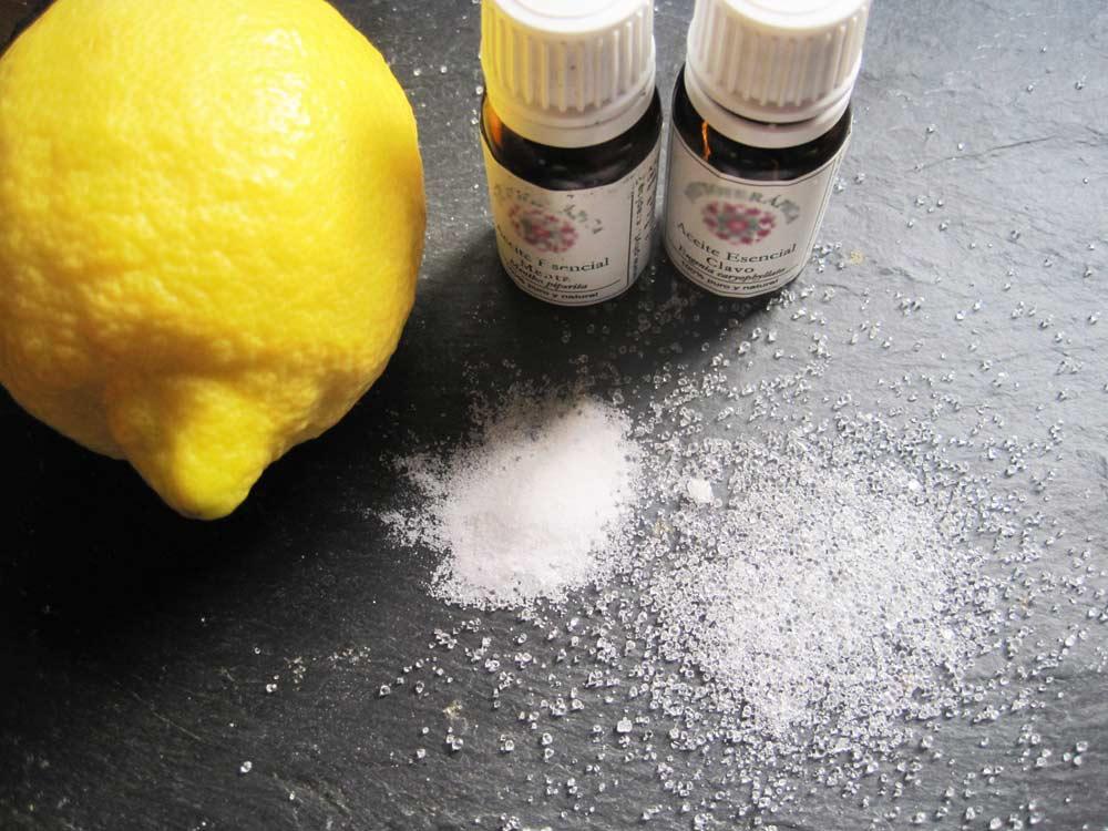 Limón aceite bicarbonato y alumbre