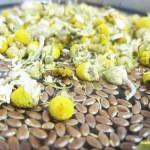 Remojo de semillas de lino y manzanilla