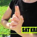 Posición de las manos en Sat Kriya