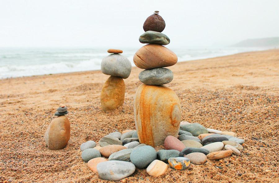 Piedras en la playa